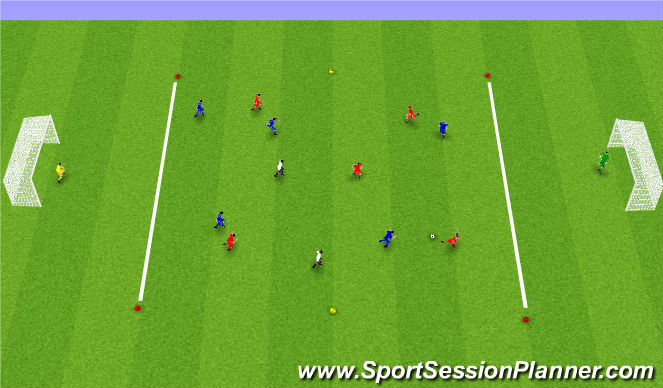 Football/Soccer Session Plan Drill (Colour): Leikrænþjálfun: