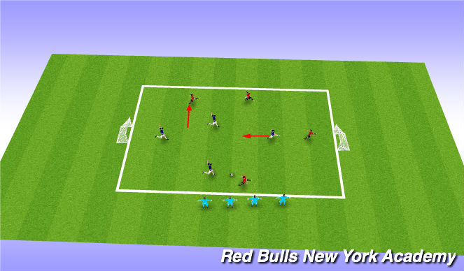 Football/Soccer Session Plan Drill (Colour): Game / 4v4