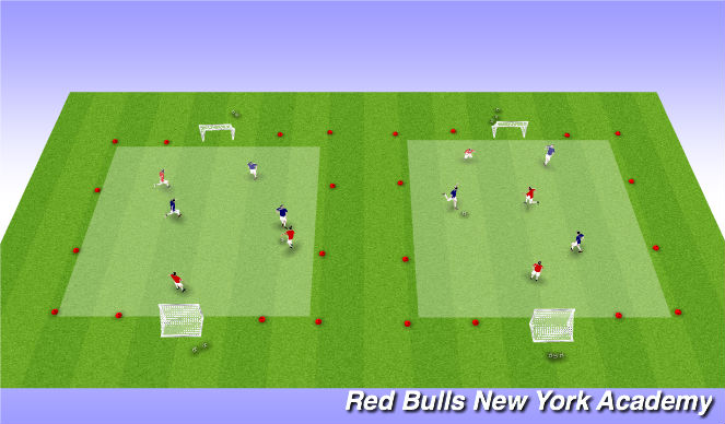 Football/Soccer Session Plan Drill (Colour): Small-Sided Games Tournament 3v3