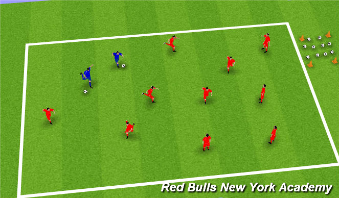 Football/Soccer Session Plan Drill (Colour): Aliens and Astronauts