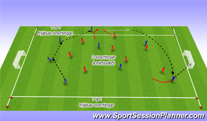 Football/Soccer Session Plan Drill (Colour): Skilyrt spil:
