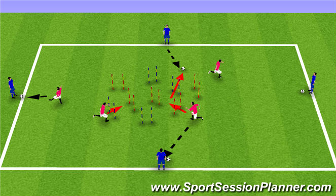 Football/Soccer Session Plan Drill (Colour): game 2