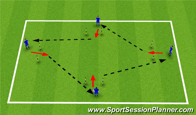 Football/Soccer Session Plan Drill (Colour): ADP Thursday 16th