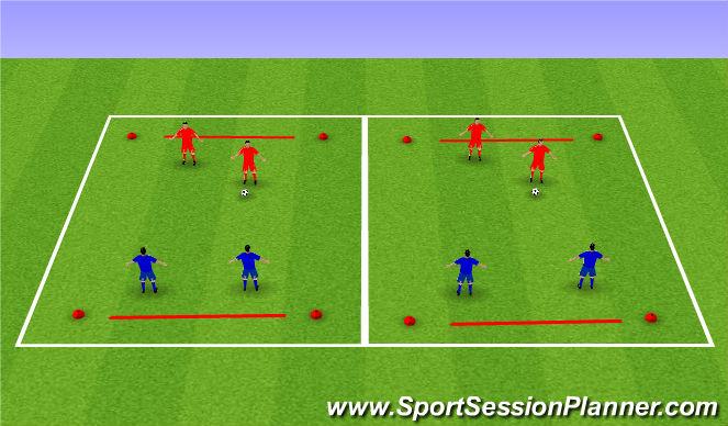 Football/Soccer Session Plan Drill (Colour): SSG - Line