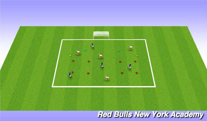 Football/Soccer Session Plan Drill (Colour): Trophie unopposed