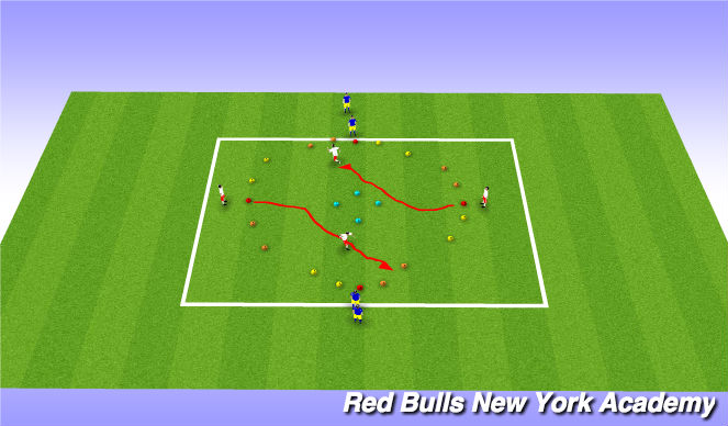 Football/Soccer Session Plan Drill (Colour): trophie semi opposed