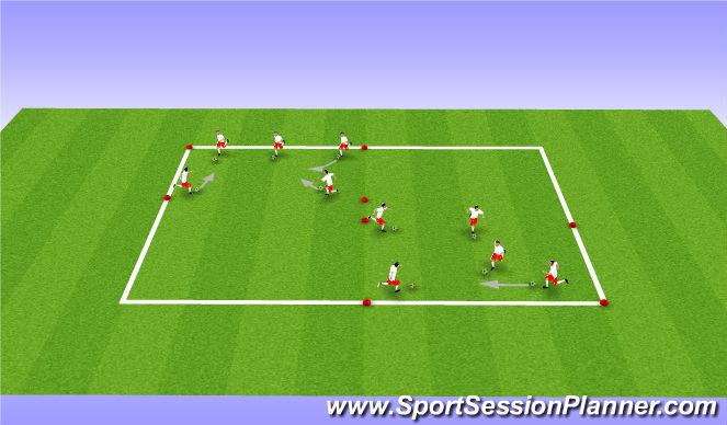 Football/Soccer Session Plan Drill (Colour): Dribbling/Shielding