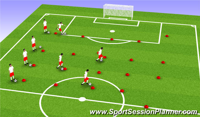 Football/Soccer Session Plan Drill (Colour): Thursday night