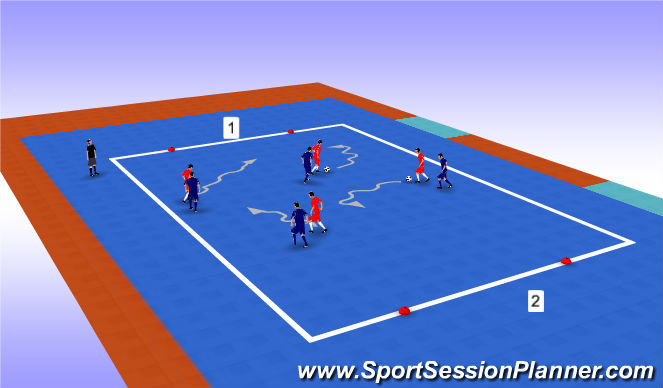Futsal Session Plan Drill (Colour): Functional