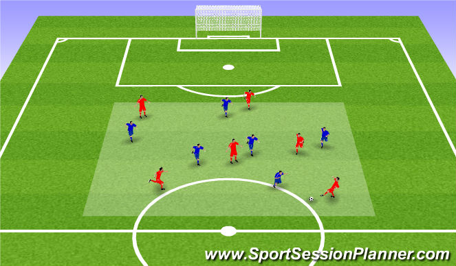 Football/Soccer Session Plan Drill (Colour): Cone-ified