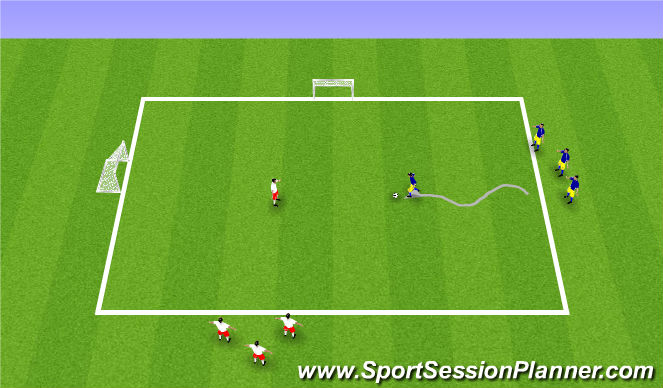 Football/Soccer Session Plan Drill (Colour): Tuesday ADP