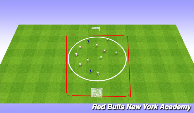 Football/Soccer Session Plan Drill (Colour): SAC warm-up