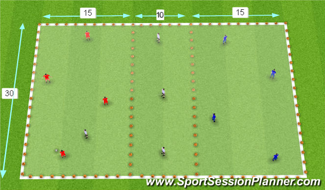 Football/Soccer Session Plan Drill (Colour): Pass and Switch