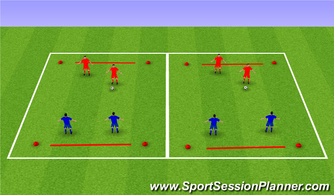 Football/Soccer Session Plan Drill (Colour): SSG - Line