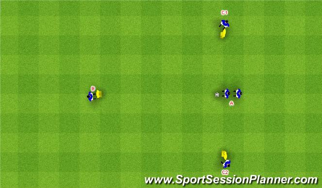 Football/Soccer Session Plan Drill (Colour): Rozostavenie