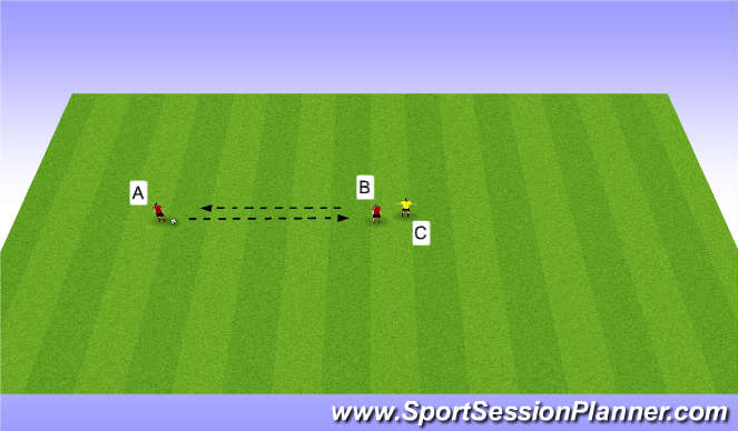 Football/Soccer Session Plan Drill (Colour): Protecting Ball Under Pressure