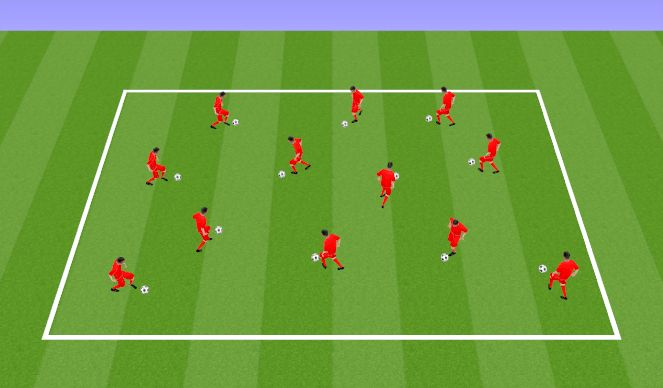 Football/Soccer Session Plan Drill (Colour): Individual Footskills