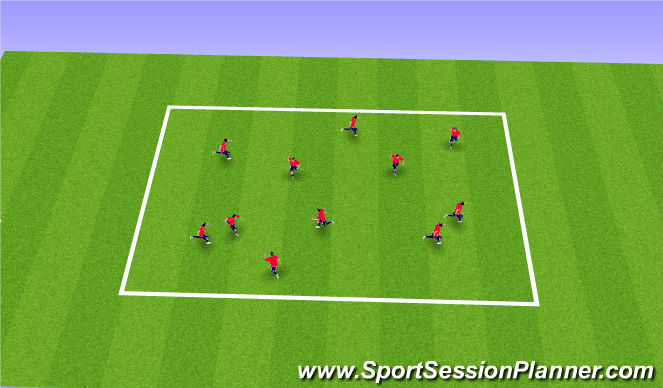 Football/Soccer Session Plan Drill (Colour): Station 2 & 18