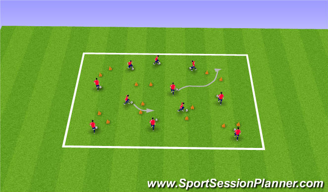 Football/Soccer Session Plan Drill (Colour): 4 & 20
