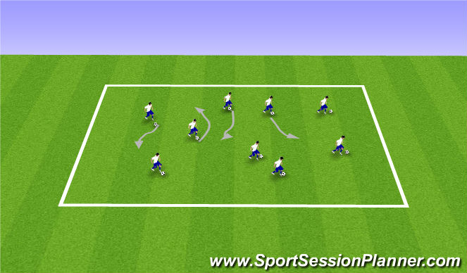 Football/Soccer Session Plan Drill (Colour): 8 & 24
