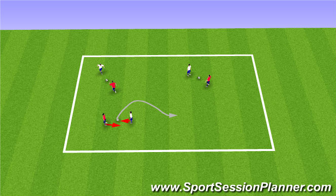 Football/Soccer Session Plan Drill (Colour): 10 & 26