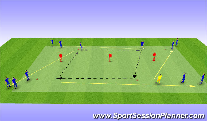 Football/Soccer Session Plan Drill (Colour): Skill Intro Progression A
