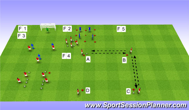 Football/Soccer Session Plan Drill (Colour): Session 8