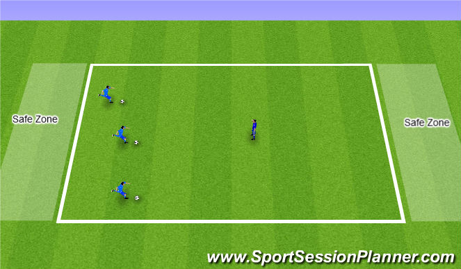 Football/Soccer Session Plan Drill (Colour): Bulldogs