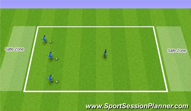 Football/Soccer Session Plan Drill (Colour): Bulldogs