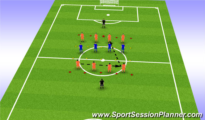 Football/Soccer Session Plan Drill (Colour): Drill