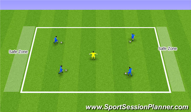 Football/Soccer Session Plan Drill (Colour): Wicked Witch of the West