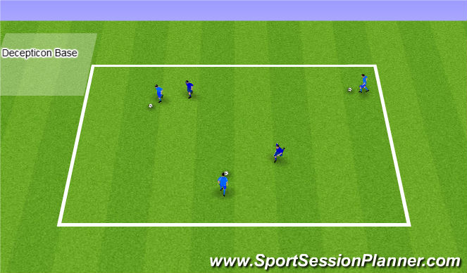 Football/Soccer Session Plan Drill (Colour): Transformers Game