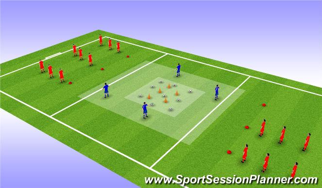 Football/Soccer Session Plan Drill (Colour): Treasure chest