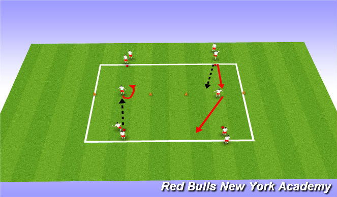 Football/Soccer Session Plan Drill (Colour): shooting for the stars