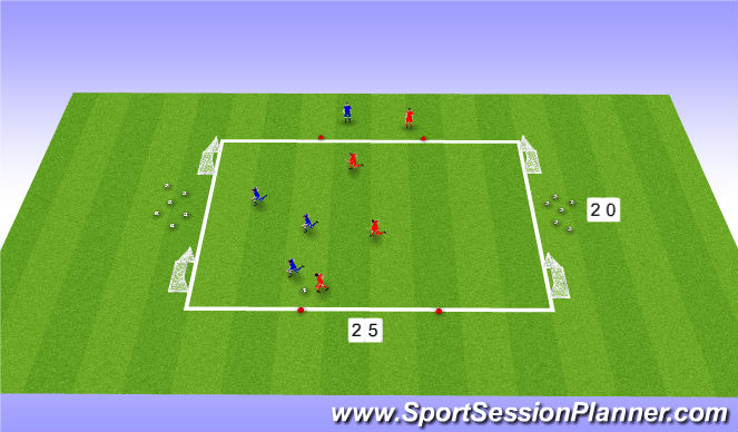 Football/Soccer Session Plan Drill (Colour): SSG - 3v3 Funinho Individual World Cup