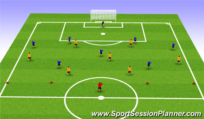 Football/Soccer Session Plan Drill (Colour): Analytic