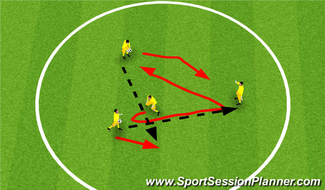 Football/Soccer Session Plan Drill (Colour): Game Warm up