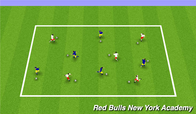 Football/Soccer Session Plan Drill (Colour): Individual Warm Up