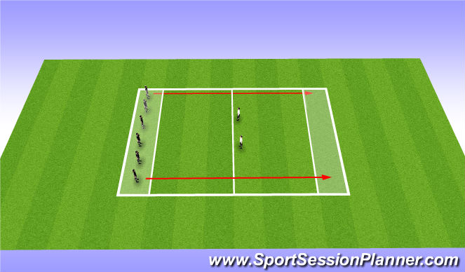 Football/Soccer Session Plan Drill (Colour): WU: Bulldog 1