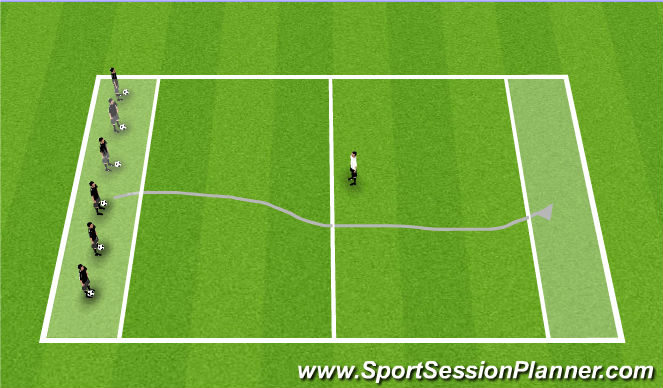 Football/Soccer Session Plan Drill (Colour): T2: Bulldog 2