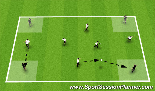 Football/Soccer Session Plan Drill (Colour): T1: