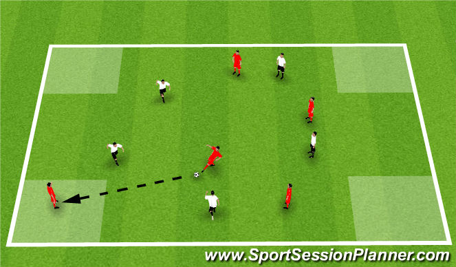 Football/Soccer Session Plan Drill (Colour): CSG: