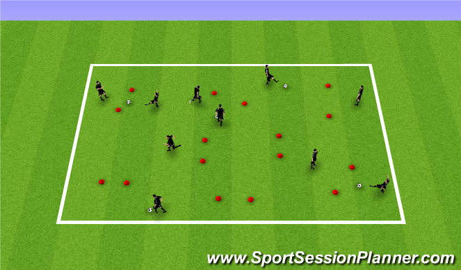 Football/Soccer Session Plan Drill (Colour): T1