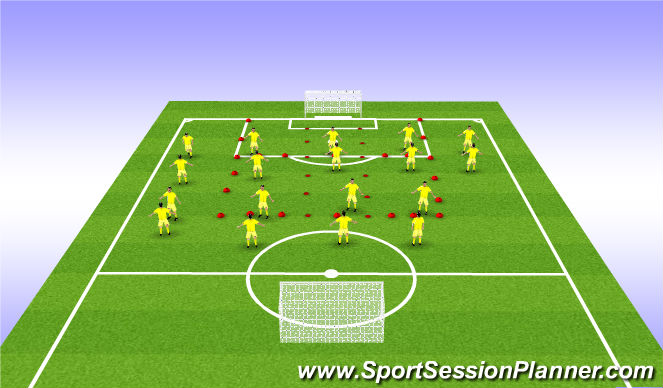 Football/Soccer Session Plan Drill (Colour): Tech Session