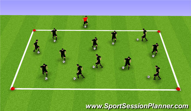 Football/Soccer Session Plan Drill (Colour): Ball mastery 1