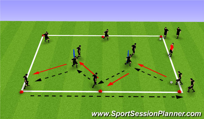 Football/Soccer Session Plan Drill (Colour): Ball mastery 3
