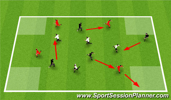 Football/Soccer Session Plan Drill (Colour): WU: