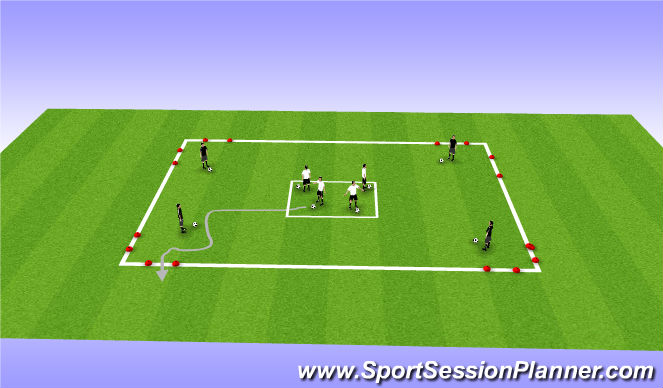 Football/Soccer Session Plan Drill (Colour): T2: Individual Escape