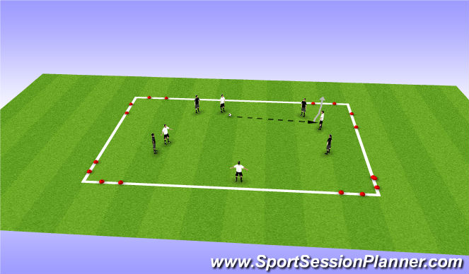 Football/Soccer Session Plan Drill (Colour): CG: Team escape