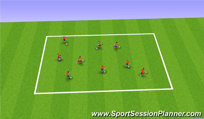 Football/Soccer Session Plan Drill (Colour): Warm up- coerver skills